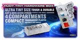 HUDY TINY HARDWARE BOX - 4-COMPARTMENTS - 298016_