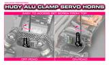 HUDY ALU CLAMP SERVO HORN - FUTABA - 2-HOLE - 25T - 293406_