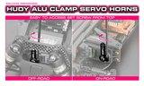 HUDY ALU CLAMP SERVO HORN - KO PROPO, JR, SANWA, AIRTRONICS - 23T - 293407_