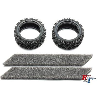 TAMIYA 26mm Rally Block Tires Soft/2Pcs - 54861