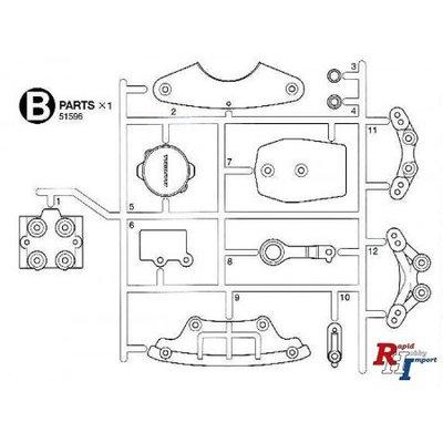 TAMIYA M-07 B-Parts (Bumpers) - 51596