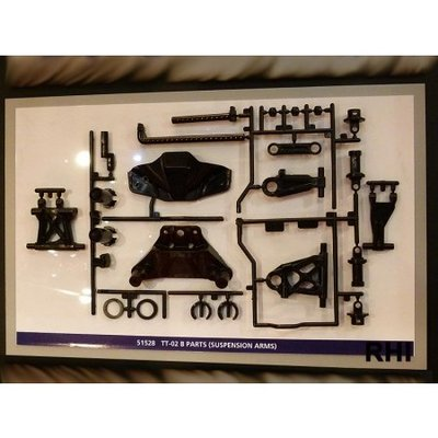 TAMIYA TT-02 B Parts (suspention arms) - 51528
