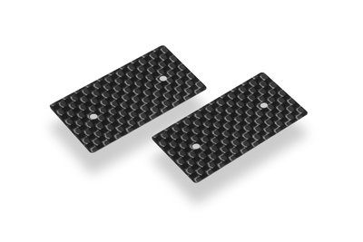 HUDY GRAPHITE REAR WING SIDE PLATE 0.5MM - 1/10 ELECTRIC (2) - 293311