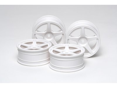 TAMIYA 24MM 5-SPOKE WHEELS (4) - 53471