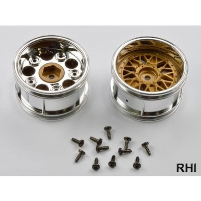TAMIYA 2-Piece Porsche Taisan Wide Mesh Wheels (1 Pair) - 50549
