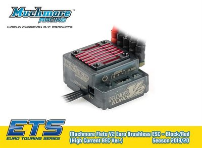 Muchmore Fleta V2 Euro Brushless ESC - Black/Red (High Current BEC Ver) - MM-ME-FLEV2