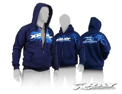 XRAY SWEATER HOODED WITH ZIPPER - BLUE (XL) - 395600XL