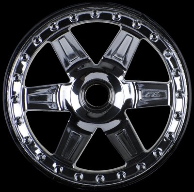 Proline Desperado 2.8 (Traxxas Style Bead) Black Chrome Front Wheel, PR2728-11 - 2728-11