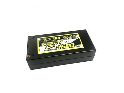 YellowRC LiPo 4600mAh 7,4V 2S 100C Shorty Hardcase, YEL2646 - 2646