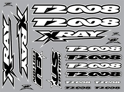 Xray T2'008 Sticker For Body White, X397323 - 397323