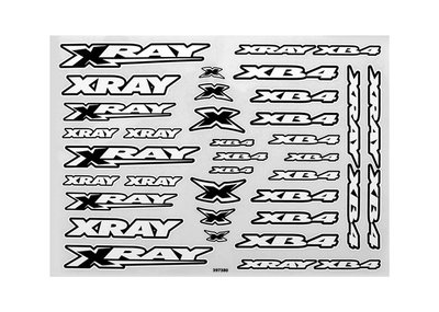 Xray Xb4 Sticker For Body - White, X397380 - 397380