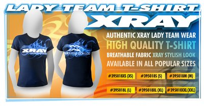 Xray Lady Team T-shirt (m), X395018m - 395018M
