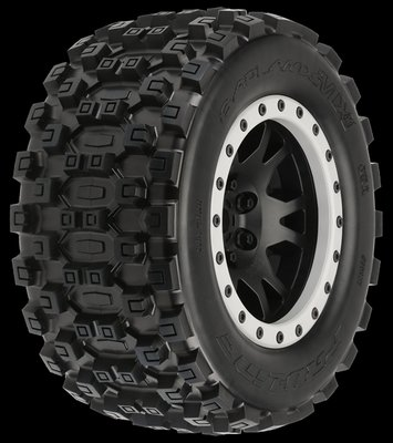 Proline Badlands Mx43 X-maxx Mtd Impulse Blk/gry F/r - 10131-13