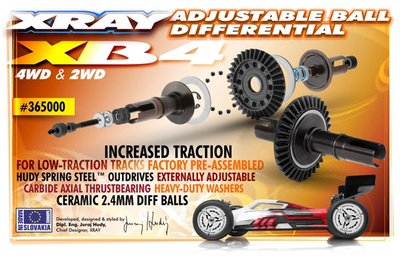 Xray Ball Adjustable Differential - Set - Hudy Spring Steel?, X365000 - 365000