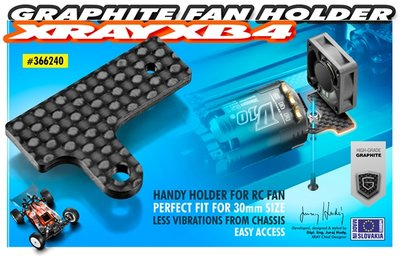 Xray Graphite Fan Holder 2.2mm - 366240