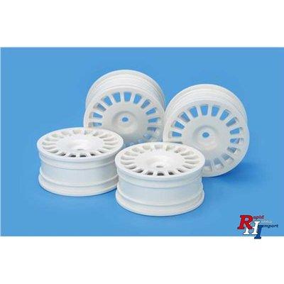 54851 Medium-Narrow Rally Dish Wheels (24mm Width, Offset 0) (White) 4pcs.