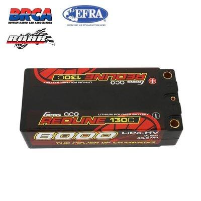 Gens ace Redline Series Shorty 6000mAh 7.6V 2S 130C HV LiPo (5mm, 220g)