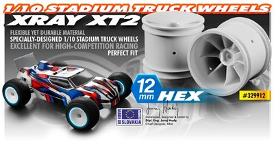 STADIUM TRUCK WHEEL AERODISK WITH 12MM HEX - WHITE (2) - 329912