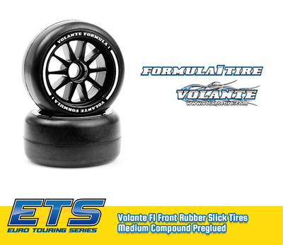 Volante F1 Front Rubber Slick Tires Medium Compound Preglued - VT-VF1-FM