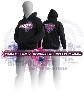 HUDY Sweater Hooded - Black (Xxl) - 285501XXL