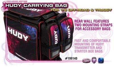 HUDY 1/8 Off-Road & Truggy Carrying Bag + Tool Bag - Exclusi - 199140