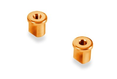 XRAY ALU ECCENTRIC BUSHING 0.0MM - ORANGE (2) - 372316-O