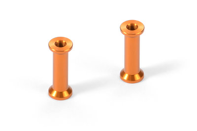 XRAY ALU MOUNT 18.0MM - ORANGE (2) - 376365-O