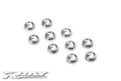 XRAY Alu Conical Shim 3X6X2.0mm (10) - 362280