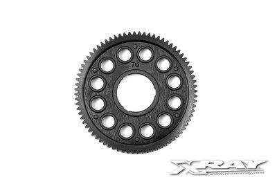 XRAY COMPOSITE SPUR GEAR - 76T / 64P - 375876