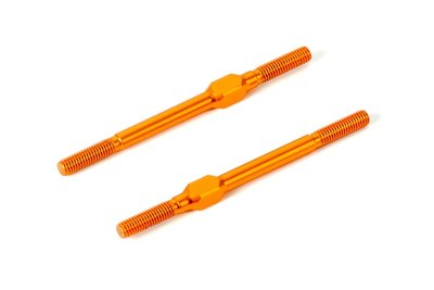 XRAY ALU ADJ. TURNBUCKLE M3x51 MM - SWISS 7075 T6 - ORANGE (2) - 372615-O