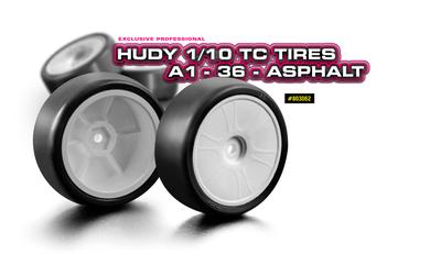 HUDY 1/10 TC Tires A1-36 - Asphalt (4) - 803062