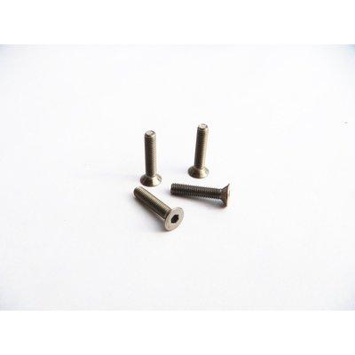 Hiro Seiko M3x12 Titanium Hex Socket Flat Head Screw - 69690