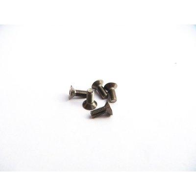 Hiro Seiko M3x6 Titanium Hex Socket Flat Head Screw - 69687