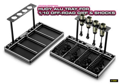 HUDY ALU TRAY FOR 1/10 OFF-ROAD DIFF & SHOCKS - 109801
