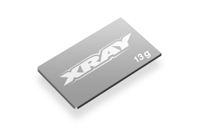 XRAY PURE TUNGSTEN CHASSIS WEIGHT 13g (2) - 306550