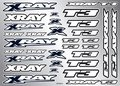 Xray T3 Sticker For Body - White, X397325 - 397325