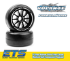 Volante F1 Front Rubber Slick Tires Medium Soft Compound Preglued (Carpet) - VT-VF1-FMS