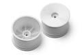 XRAY 2WD/4WD REAR WHEEL AERODISK WITH 12MM HEX - V2 - WHITE (2) - 329913