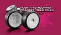 HUDY 1/10 TC CARPET TIRES C3-28 (4) - 803053