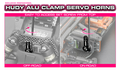 HUDY ALU CLAMP SERVO HORN - HITEC - OFFSET- 24T - 293402