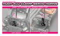 HUDY ALU CLAMP SERVO HORN - FUTABA - OFFSET - 25T - 293403